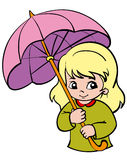 Girl. A little girl under the umbrella Royalty Free Stock Photography