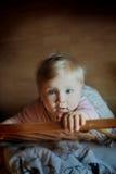 Girl. Little girl with big blue eyes Stock Photo