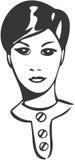 Girl. Shorthaired girl, retro-style illustration Stock Images
