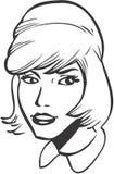 Girl. Blonde girl, retro-style illustration Royalty Free Stock Photography