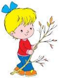 Girl. Vector clip-art / children's illustration for yours design, postcard, album, cover, scrapbook, etc Stock Images