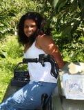 Girl on 4 wheeler Stock Photos