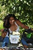 Girl on 4 wheeler Royalty Free Stock Photos