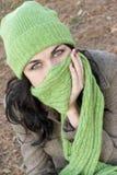 Girl. Cold girl Stock Photography