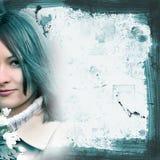 Girl. Grunge background Royalty Free Stock Image