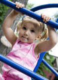 Girl. Little girl playing on playground Stock Image
