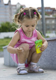 Girl. A little cute girl playing Stock Photography