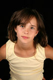 Girl. In black background portrait Royalty Free Stock Images