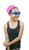 Girl. Ready to go swimming royalty free stock photos