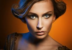 Girl!. Glamour portrait of an attractive woman stock photography