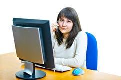 Girl - A Secretary Stock Photo