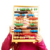 Girl with abacus Stock Photo
