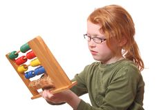 Girl with abacus Royalty Free Stock Photography