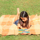 Girl with abacus Stock Photography
