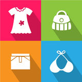 Girl Accessories icon great for any use. Vector EPS10. Stock Images