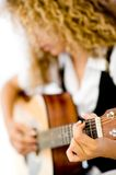 Girl and Acoustic Guitar Stock Photos