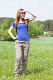 Girl admiring the view Royalty Free Stock Image