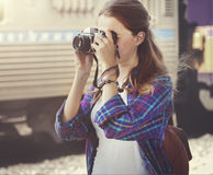 Girl Adventure Hangout Traveling Holiday Photography Concept Royalty Free Stock Photos