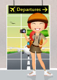Girl adventure Stock Images