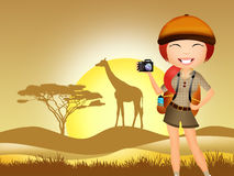 Girl adventure Royalty Free Stock Photo