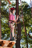 Girl in adventure park Stock Photography