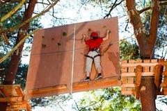 Girl in adventure park Royalty Free Stock Photos