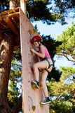 Girl in adventure park Royalty Free Stock Photos