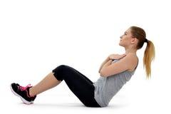 Girl aerobic exercise Stock Photos