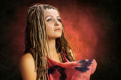 Girl with an african plaits Royalty Free Stock Image