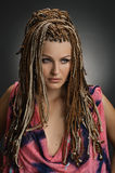Girl with an african plaits Royalty Free Stock Photography