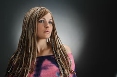 Girl with an african plaits Stock Images