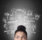 Girl& africano x27; icone cape e startup di s Immagini Stock Libere da Diritti