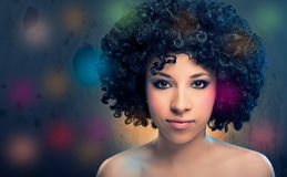 Girl with Afro Stock Photography