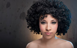 Girl with Afro Stock Photos