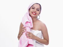 Girl After A Steam Bath Stock Image