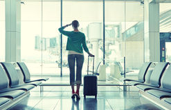 Girl at the airport Stock Image