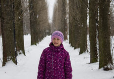 Girl in alley Royalty Free Stock Photo