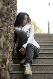 Girl alone, problems Royalty Free Stock Photo