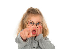 Girl is amazed Royalty Free Stock Photos