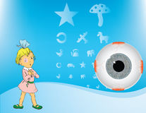 Girl With Amblyopia Royalty Free Stock Images