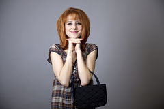 Girl in american 50s-60s style. Royalty Free Stock Images