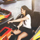 Girl Amusement Park Ride Fun Concept Royalty Free Stock Image