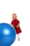 Girl And Ball Stock Images