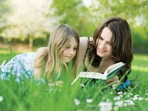 Girl And Her Mommy Royalty Free Stock Image