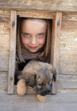 Girl And Her Pet Royalty Free Stock Images