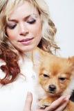 Girl And Her Pet Stock Photos