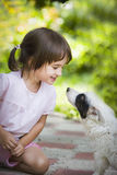 Girl And Puppy Stock Photography