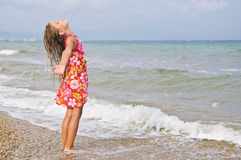 Girl And The Sea. Royalty Free Stock Images