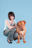The Girl anf the Dog Royalty Free Stock Image