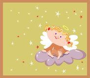 Girl an angel Royalty Free Stock Images